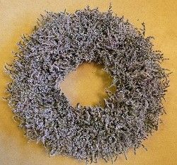 "Christmas Statice Wreath - Large (10"")"