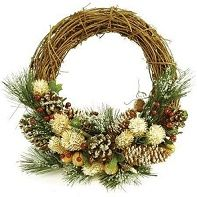Christmas Wreath 30cm Willow (dried) OUT OF STOCK